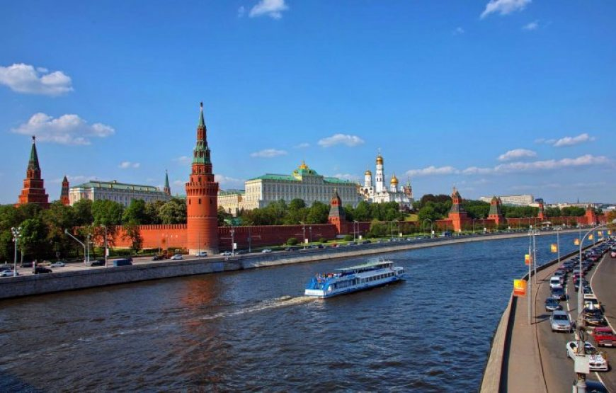 Moscow Kremlin across Moscow river