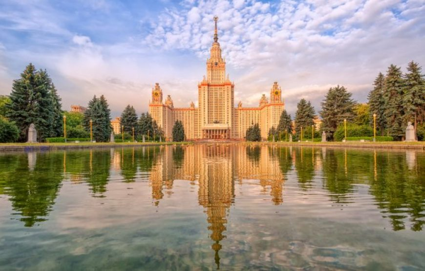 Moscow State University Main Building on Sparrow Hills