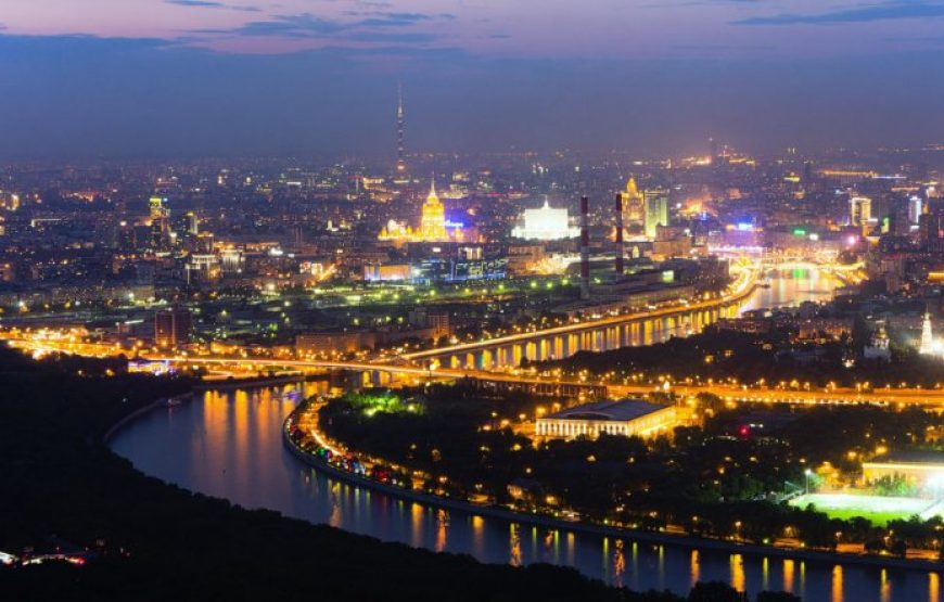 Moscow at Night, View from Sparrow Hills