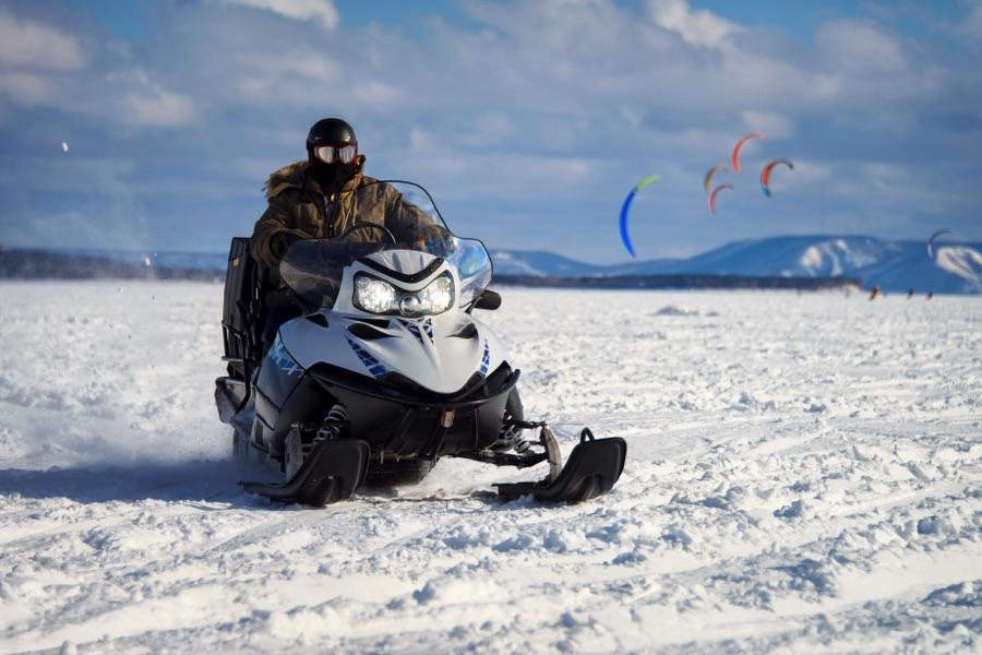 Day 3. The fun of Husky Dog-sledding & Snowmobile Ride