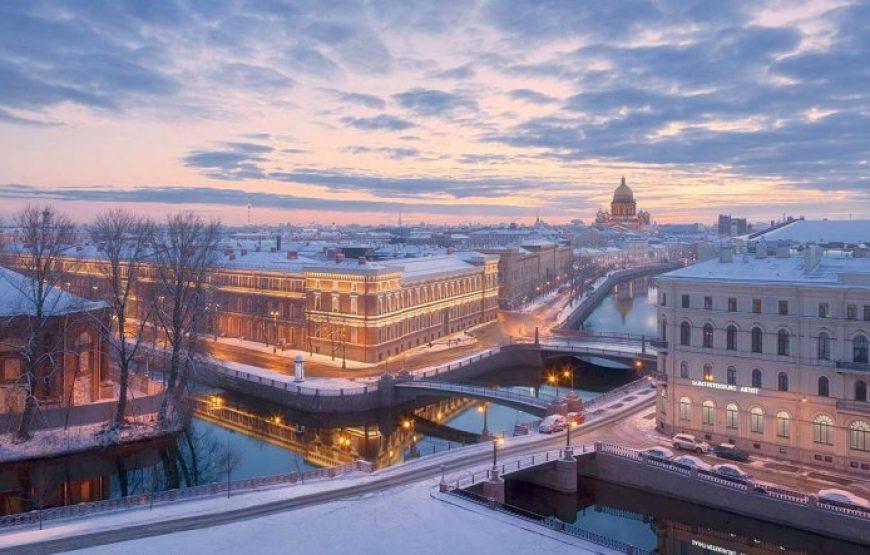City Panorama in Winter