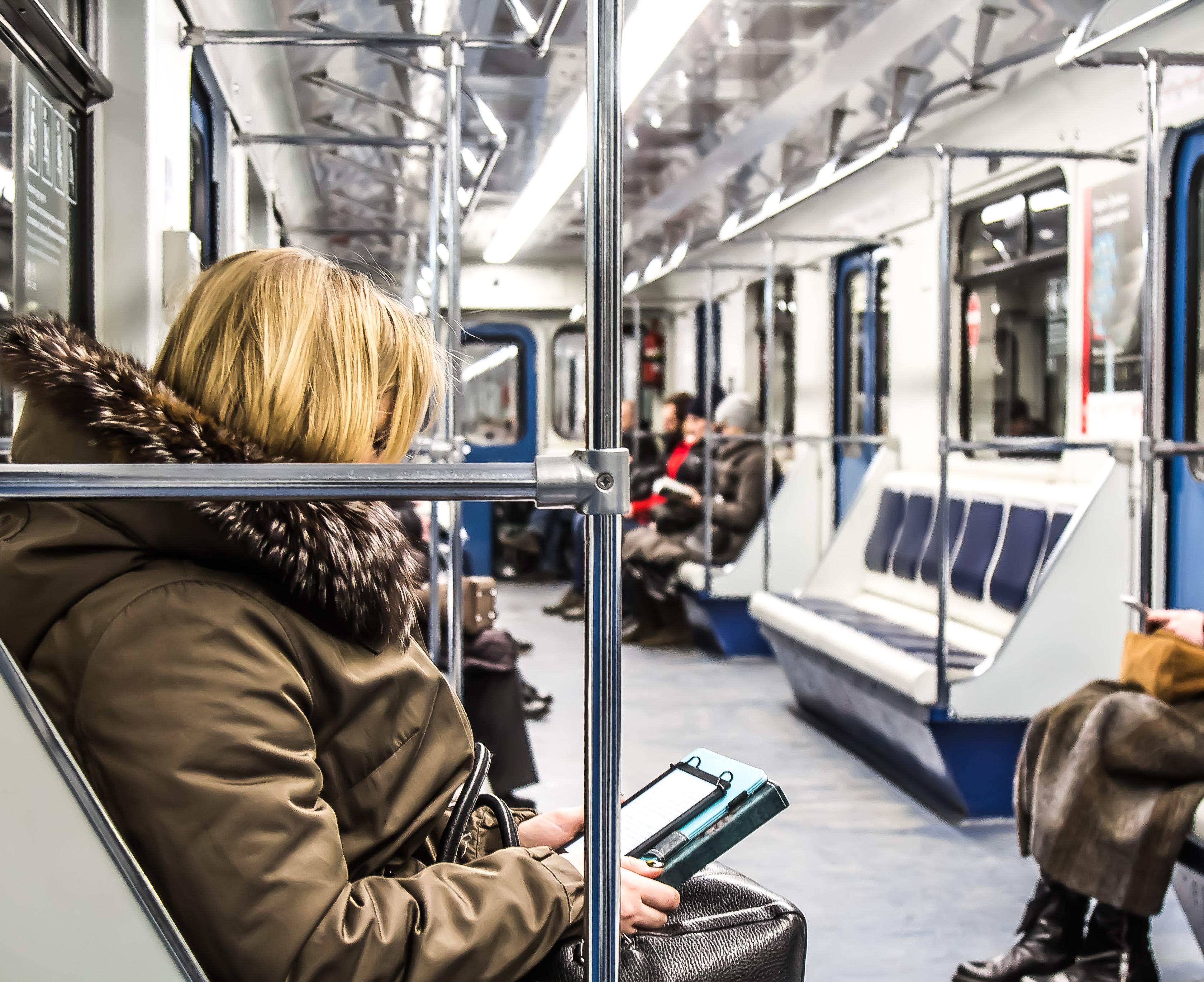 Moscow festive train metro